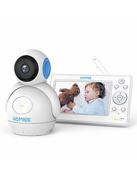 """Homiee Video Baby Monitor With 720 P Digital Camera, 5"""" Color Lcd Display And 1000 Ft Long Range, Infrared Night Vision, 5 Lullabies, Two Way Audio Talk,... by Homiee"""
