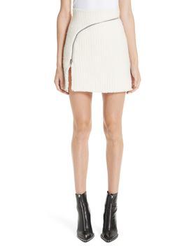 Zip Detail Tweed Miniskirt by Alexander Wang