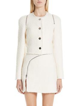 Zip Detail Tweed Jacket by Alexander Wang