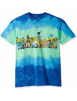 Liquid Blue Men's Simpsons The Cast Tie Dye Short Sleeve T Shirt by Liquid Blue