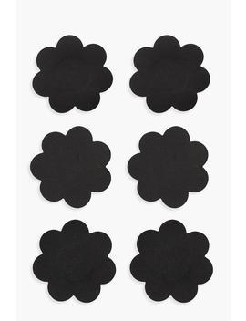 Black Satin Flower Nipple Covers 3 Pack by Boohoo