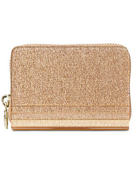 Barbara Metallic Zip Around Coin Card Case by Michael Michael Kors