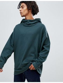 Asos Design Oversized Hoodie With Slouch Neck In Dark Blue by Asos Design