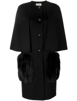 Short Sleeve Fitted Cardi Coat by Fendi