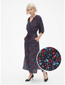 Tie Waist Maxi Shirtdress by Gap