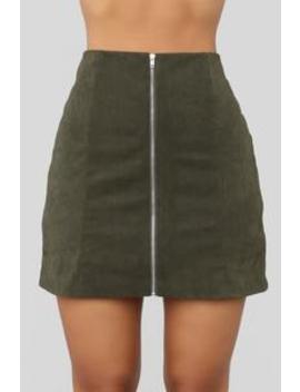 Fall For You Corduroy Skirt   Olive by Fashion Nova