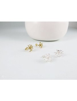 Abbi Earrings   Wishful Star Burst Earrings • Birthday • Gift For Friend • 24 K Gold Vermeil • Shiny Flower • Sister • Everyday • Starburst by Etsy