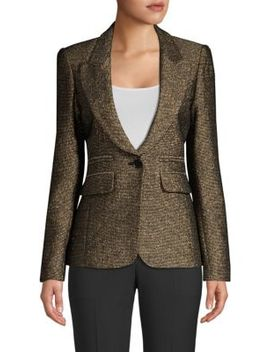 Metallic Peak Lapel Blazer by Smythe