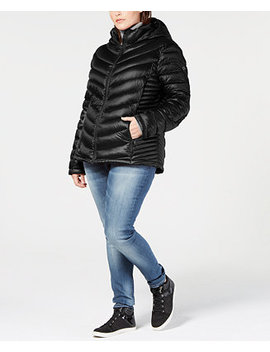 Plus Size Hooded Down Puffer Coat by Calvin Klein