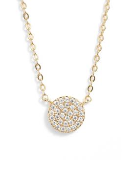 Pavé Disc Pendant Necklace by Nordstrom