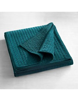 Atwood Velvet Teal King Quilt by Pier1 Imports