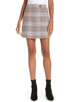 Plaid Miniskirt by Sandro