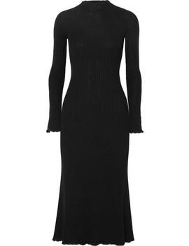 Ribbed Wool Blend Midi Dress by Sonia Rykiel