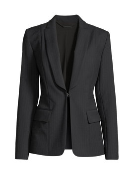 Lorelei Hook Front Pinstripe Wool Blend Jacket by Elie Tahari