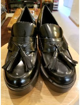 "Mossimo Supply Co ""Reagan"" Black Platform Tassel Loafers Chunky Shoes by Ebay Seller"