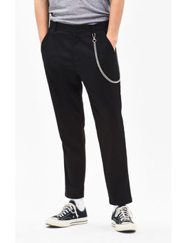 Pac Sun Slim Taper Black Trouser Pants by Pacsun