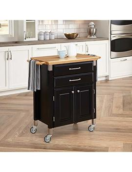 Home Styles 4508 95 Dolly Madison Prep And Serve Cart, Black Finish by Home Styles