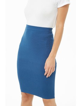 Knee Length Pencil Skirt by Forever 21
