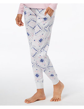 Whisperluxe Space Dyed Printed Pajama Jogger Pants by Ande