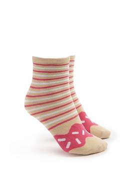 Striped Donut Socks by Forever 21