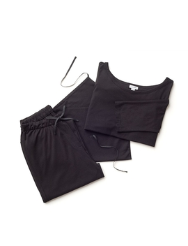 Drape Back Sleep Set by Cuyana