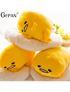 40*30cm Gudetama Lazy Egg Egg Jun Plush Toy Egg Yolk Brother Large Pillow Lazy Balls Stuffed Doll For Children Christmas Gift by Gfpan