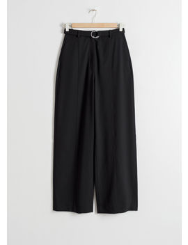 Duo O Ring Belted Pants by & Other Stories