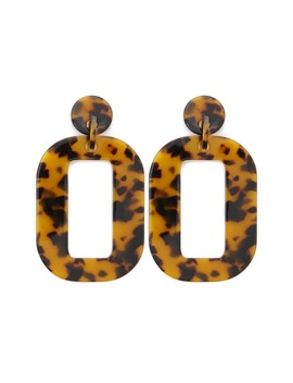 Tortoiseshell Cutout Drop Earrings by Forever 21