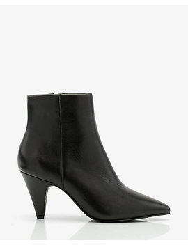 Leather Cone Heel Ankle Boot by Le Chateau