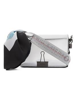 Metallic Mirror Mini Patent Leather Shoulder Bag by Off White