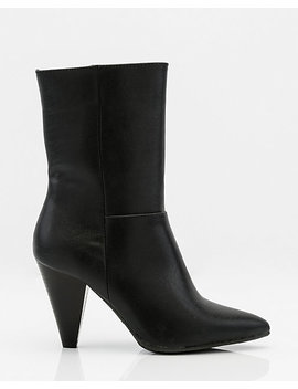 Pointy Toe Cone Heel Ankle Boot by Le Chateau