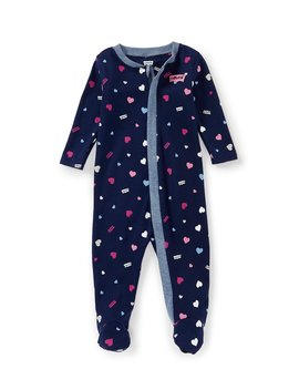 Levi's® Baby Girls 3 9 Months Printed Long Sleeve Footed Coveralls by Levi's