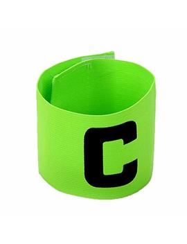 Liyhh Adjustable Soccer Basketball Player Captain C Mark Armbands Elastic Sticker   Yellow by Liyhh