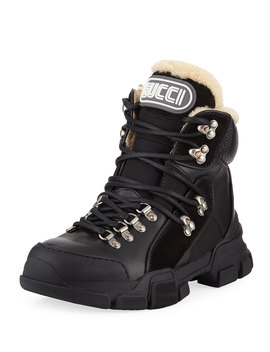 Flashtrek Shearling Lined Hiker Boots by Gucci