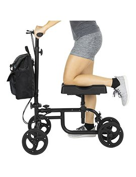 Vive Knee Walker   Stearable Scooter For Broken Leg, Foot, Ankle Injuries   Kneeling Quad Roller Cart   Orthopedic Seat Pad For Adult And Elderly Medical... by Vive