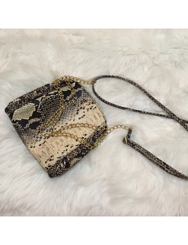 Snakeskin Crossbody W/ Gold Chain Accents by Poshmark