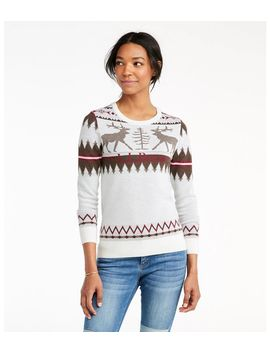 Signature Merino Textured Crewneck Sweater, Fair Isle by L.L.Bean
