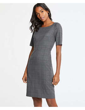 Glen Plaid Sheath Dress by Ann Taylor