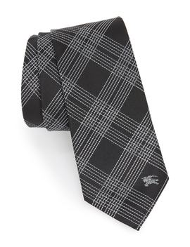 Manston Graphic Line Check Silk Tie by Burberry