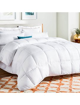 Linenspa All Season Down Alternative Quilted Comforter   Hypoallergenic   Plush Microfiber Fill   Machine Washable   Duvet Insert Or Stand Alone Comforter   White   King by Linenspa