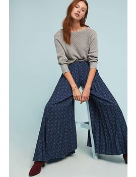 Julie Pleated Wide Leg Pants by Geisha