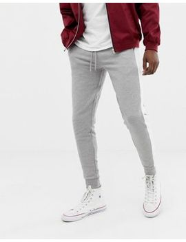 Asos Design Skinny Joggers With Side Stripe In Gray Marl by Asos Design
