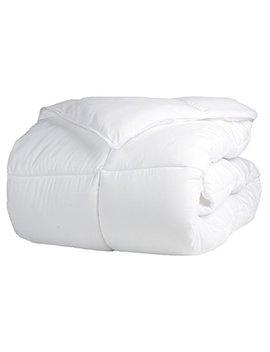 Superior Solid White Down Alternative Comforter, Duvet Insert, Medium Weight For All Season, Fluffy, Warm, Soft & Hypoallergenic   King Bed by Superior