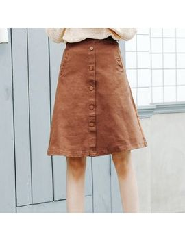 Piovra   Buttoned A Line Skirt by Piovra