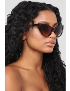 Kitty Cat Call Sunglasses   Tortoise by Fashion Nova