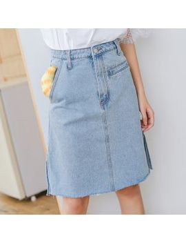 Somui   Denim A Line Skirt by Somui