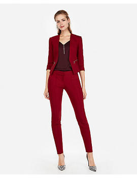 Cranberry Pintuck Ankle Columnist Pant Suit by Express