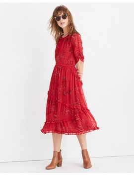 Windpoppy Ruffle Maxi Dress In Windswept Floral by Madewell