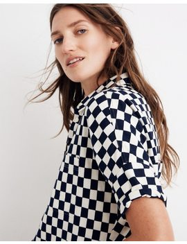 Flannel Courier Shirt In Checkerboard by Madewell