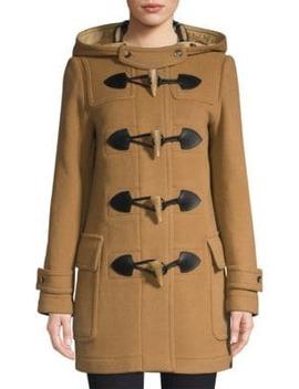 Merton Wool Blend Duffle Coat by Burberry